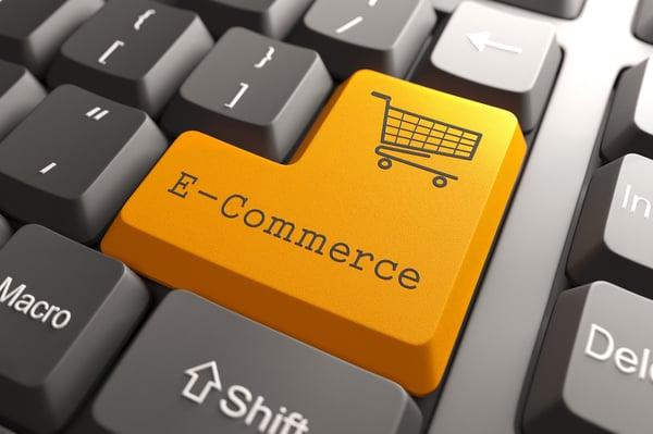 E-Commerce Button on Computer